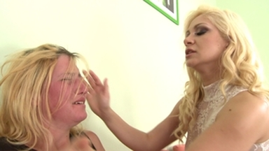 Slap and Kick / Faceslapping -By Domina Lea Lexis And Her Slave Gina