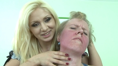 Slap and Kick / Faceslapping -By Domina Lea Lexis And Her Slave Ugly Simone