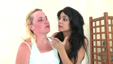 Slap and Kick / Faceslapping -By Domina Sorana And Her Slave Gina
