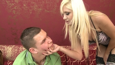 Slap and Kick / Faceslapping Boy -By Domina Lea Lexis And Her Slave Gary Corona FULL
