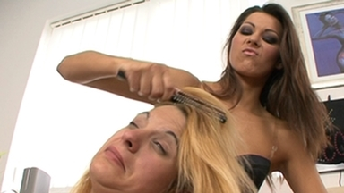 Hairpulling Girls / Hairpulling Girls -By Domina Cindy Hope And Her Slave Linda Mayhem FULL