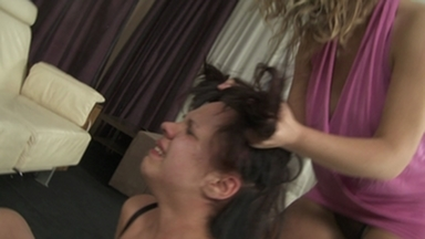 Hairpulling Girls / Hairpulling Girls -Domina Colette And Slave Little Julie