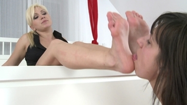 Feet Domination / Soledomination -By Domina Lea Lexis And Her Slave Blanka Hot