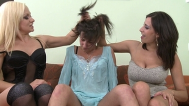 Hairpulling Girls -By 2 Dominas And Slave Blanka Hot