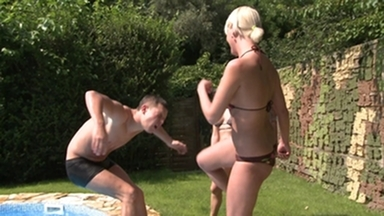 Stomach Punching -Hard Punching Boy By 2 Dominas And Slave Gary Corona