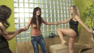 Belly Kick & Punch / Stomach Punching -Hard Punching By 2 Dominas And Slave Little Julie