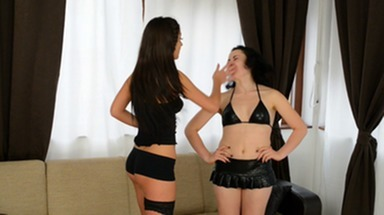 Slap and Kick / Faceslapping -By Domina Diana Sky And Her Slave Patricia Big Blue Eyes