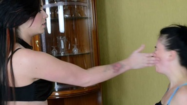 Slap and Kick / Faceslapping -By Domina Emilia And Her Slave Miranda
