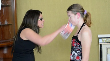 Slap and Kick / Faceslapping -By Domina Linda Rush And Her Slave Kamilla Stein