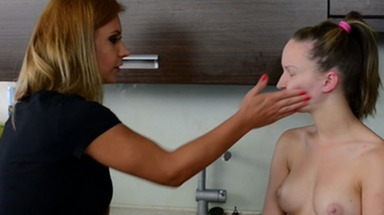 Faceslapping -By Domina Dorotthy Black And Her Slave Melania