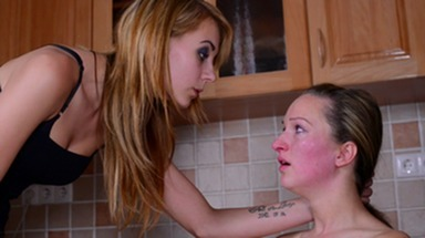 Faceslapping -By Domina Jaqueline Ray And Her Slave Melania