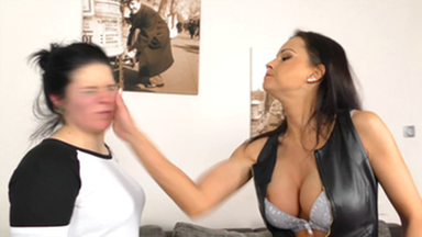 FACE SLAPPING POWER SLAPS - WITH TOP DOMINA ABBIE CAT
