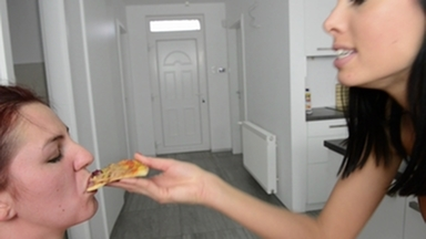 Face Slapping Extreme Hard - The Pizza - Why The Fuck You Touched My Pizza Bitch??? By  Top Domina Rea & Slave Meg Magic