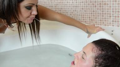 Face Slapping Water - Hard Slaps And Real Spit Swallow - Starring Nia Black And Meg Magic